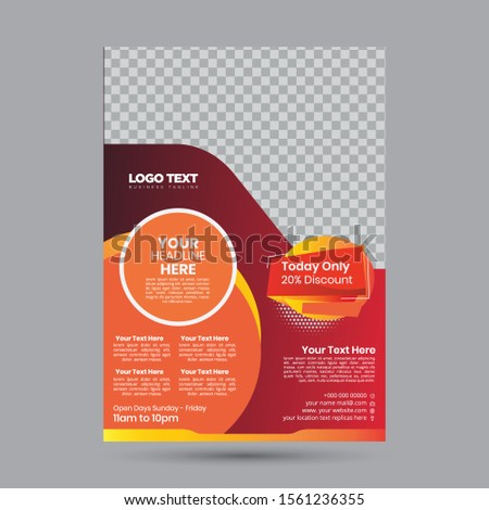 Beauty & Spa Flyer. Vector Spa Flyer template illustration For Design,