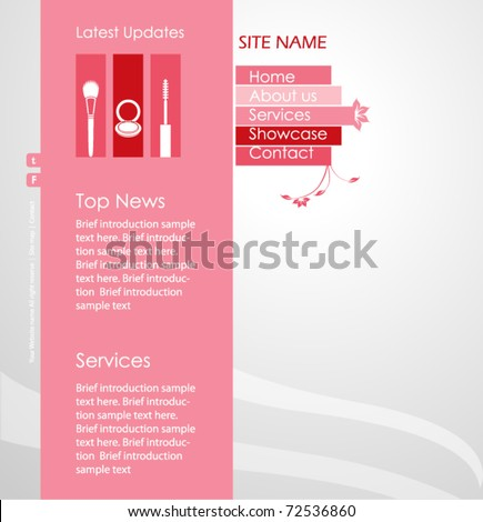Beauty style website template - vector design