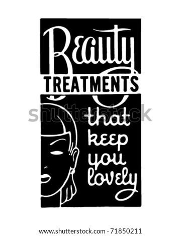 Beauty Treatments 2 - Retro Ad Art Banner
