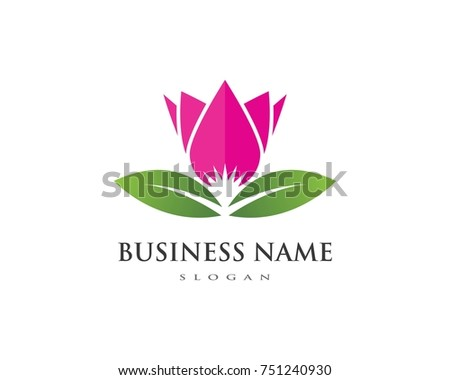 beauty vector lotus flowers design logo template icon ez canvas