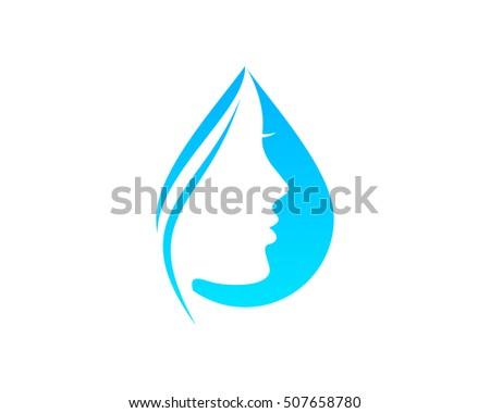 beauty water logo design