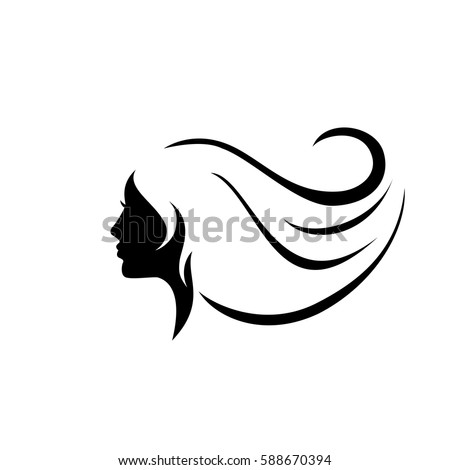 beauty woman face silhouette in