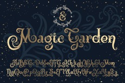 Beautyfull decorative font named