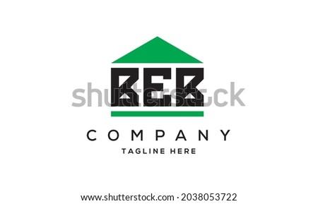 BEB creative three letter real estate logo vector  Foto stock ©