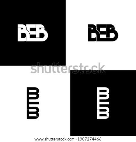 beb letter original monogram logo design Foto stock ©