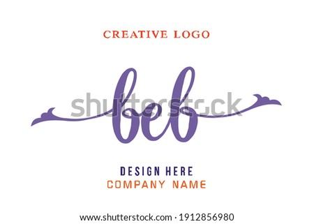 BEB lettering logo is simple, easy to understand and authoritative Foto stock ©