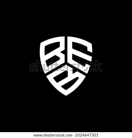 BEB Unique abstract geometric vector logo design Foto stock ©