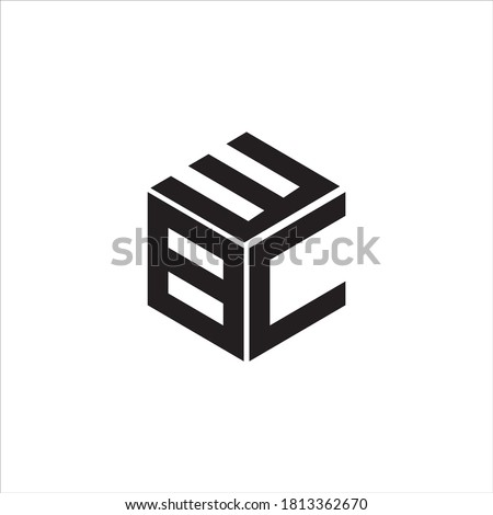BEC Logo monogram with hexagon line rounded design template on white background Photo stock ©