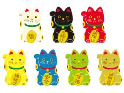 Beckoning cat set/ Japanese translation is