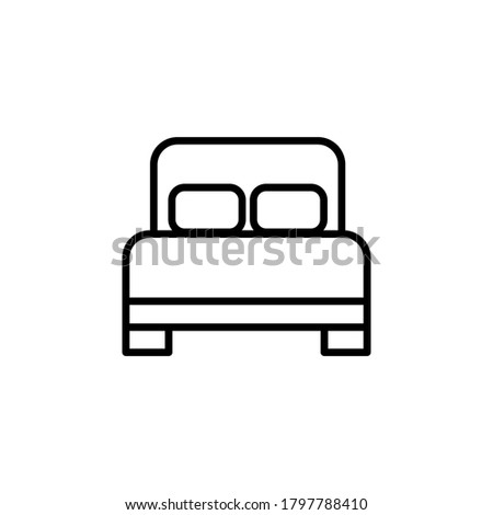 bed flat icon outline design