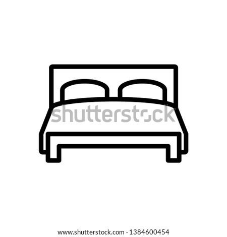 Bed icon vector flat template