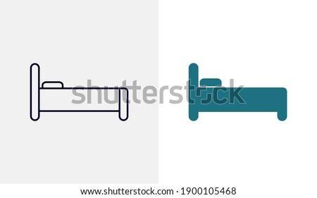 Bed icon vector template, Travel design icon concepts, Creative design