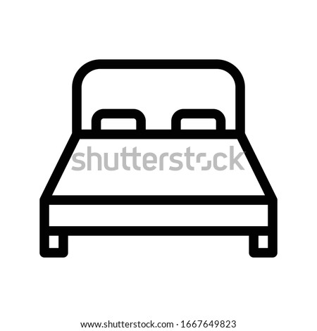 bed vector thin line icon