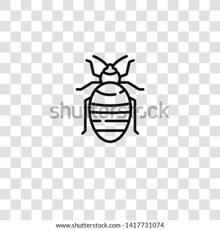 bedbug icon from insects collection for mobile concept and web apps icon. Transparent outline, thin line bedbug icon for website design and mobile, app development