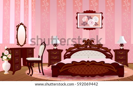Decorative Pink Bedroom Vector - Download Free Vector Art, Stock ...