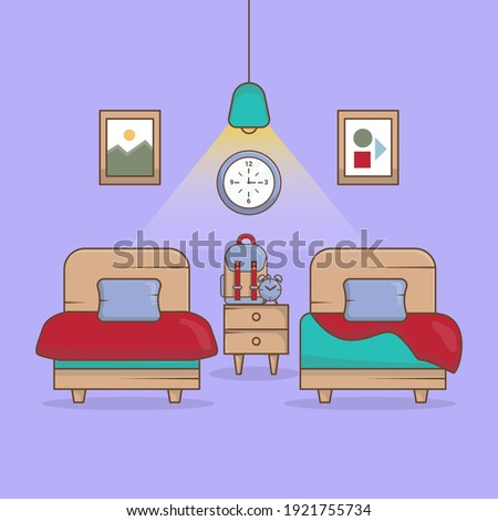bedroom child with minimalist