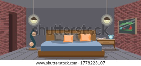 bedroom design in loft style