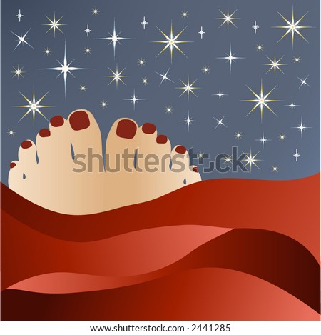 bedtime with stars vector
