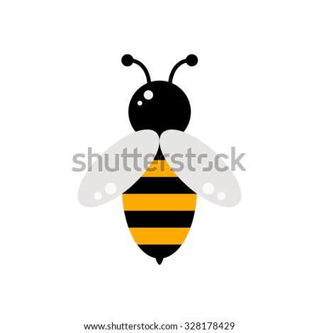 bee bee icon isolated bee