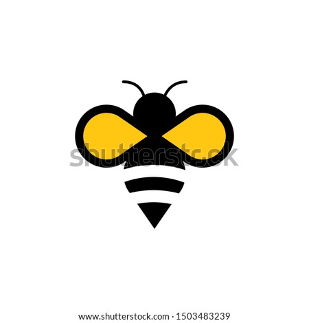 Bee concepts logo vector graphic abstract template Stockfoto ©