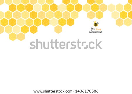 Bee hive, abstract honeycombs on white background vector illustration. Сток-фото ©
