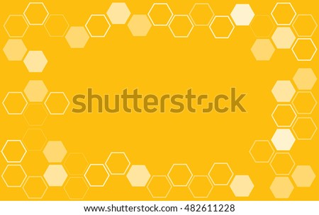 bee hive hexagon and space