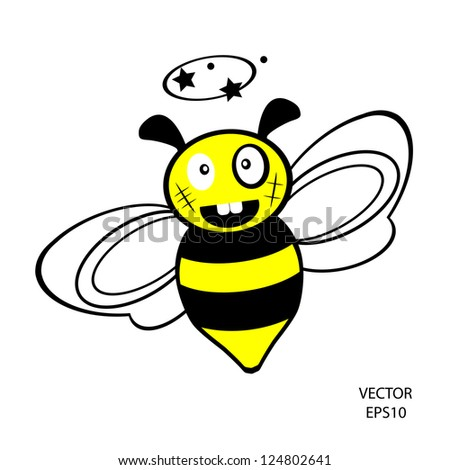 A Cartoon Illustration Of A Queen Bee With A Crown