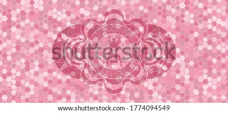 bee icon inside pink color