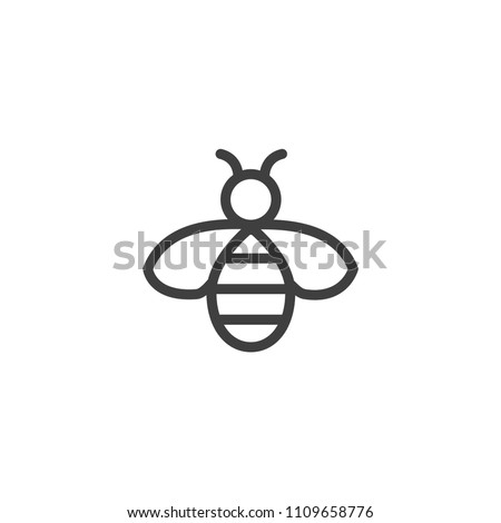 Bee icon line style vector images