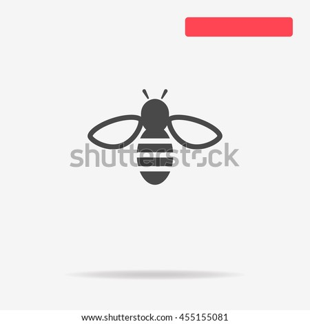 bee icon vector concept