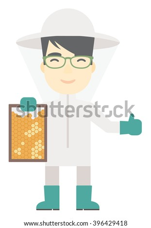 bee keeper at apiary