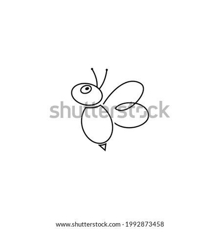 bee line logo is suitable for honey and bee companies