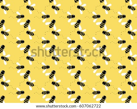 Cute Bee Patterns Download Free Vector Art Stock Graphics Images Unique Bee Pattern