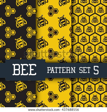 Cute Bee Patterns Download Free Vector Art Stock Graphics Images Cool Bee Pattern
