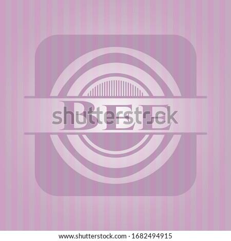 bee pink emblem vector