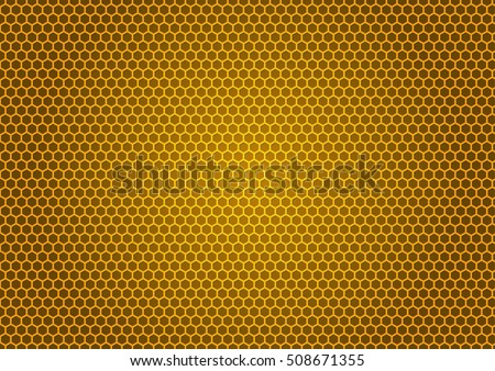 Bee's honeycomb illustration. Natural background with honeycomb pattern.