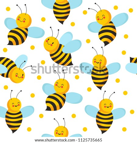 bee seamles pattern cute