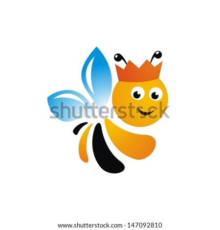 bee sign vector illustration