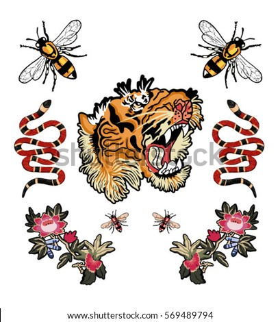 bee tiger snake tiger and