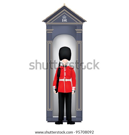 beefeater soldier in guardhouse