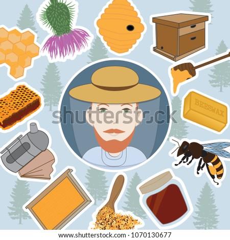 Beekeeper icon.Vector illustration.