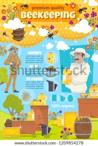 beekeeping beekeeper man at