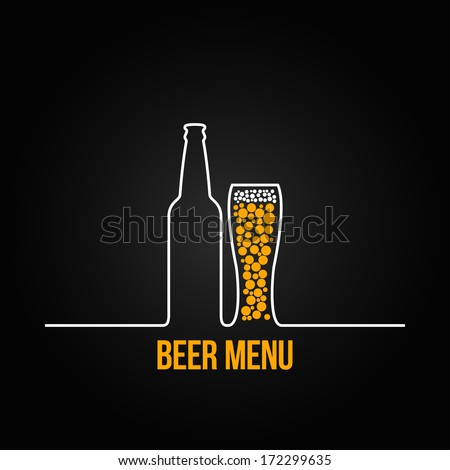 beer bottle glass deign