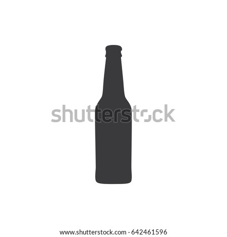Beer bottle icon, vector illustration design. Drinks collection.
