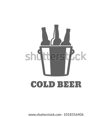 beer bottle logo cold beer