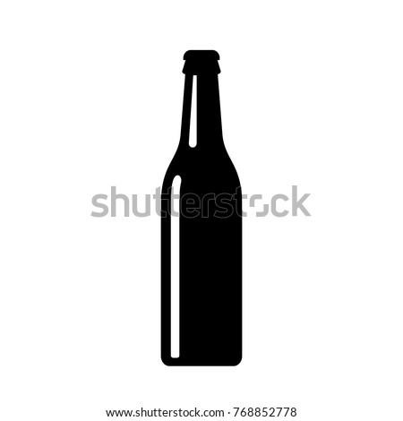 Beer bottle vector icon