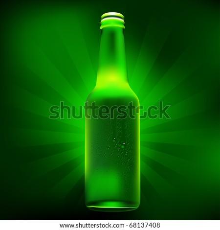 beer bottle with dew