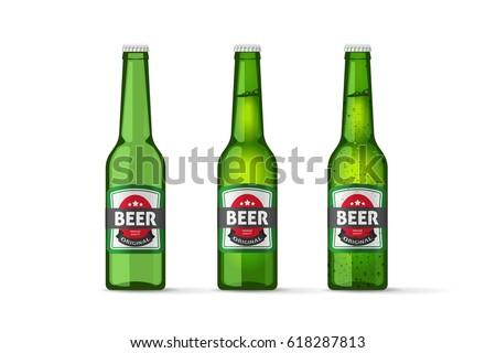 beer bottles vector objects