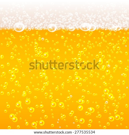 beer bubbles background with