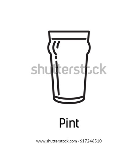 beer cup icon pint Stock photo ©